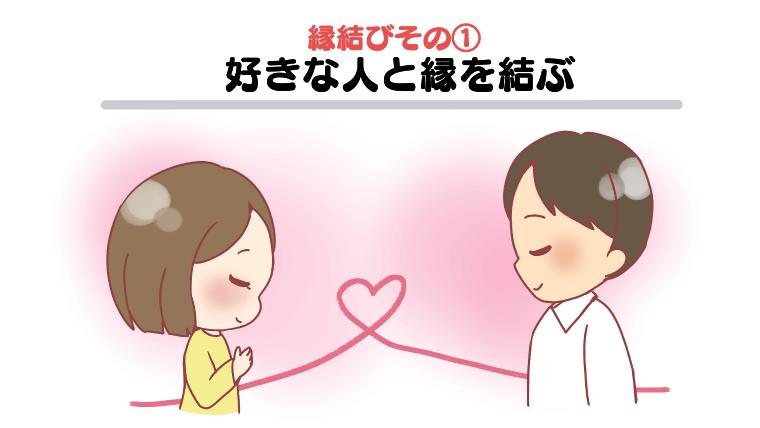 縁結びその①:好きな人と縁を結ぶ